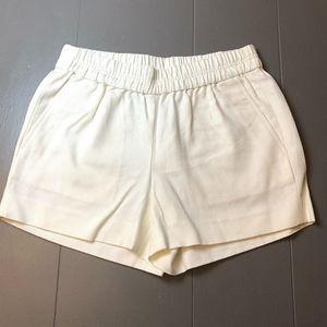 J. Crew White Elastic Waist Shorts 00